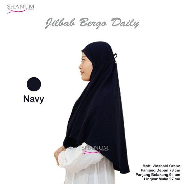 jual Jilbab bergo daily shanum navy