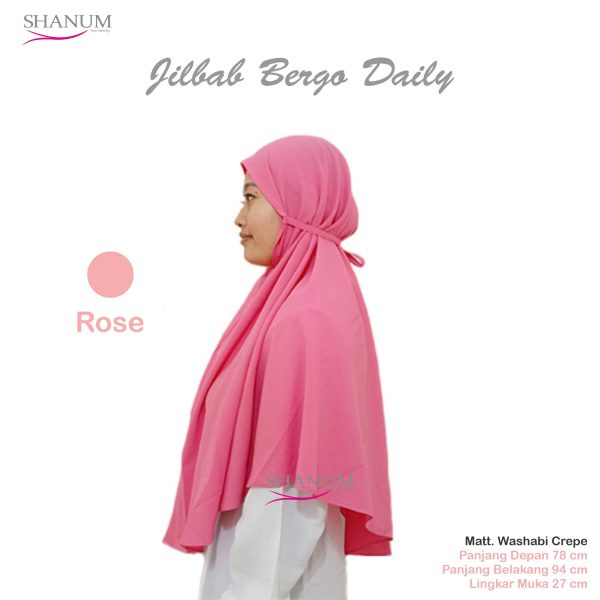 jual Jilbab bergo daily shanum pink