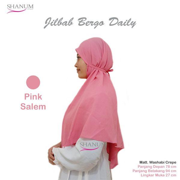 jual Jilbab bergo daily shanum pink salem