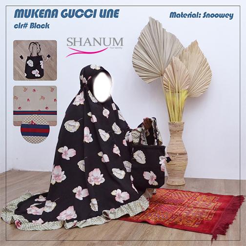 Jual Mukena Gucci BLACK