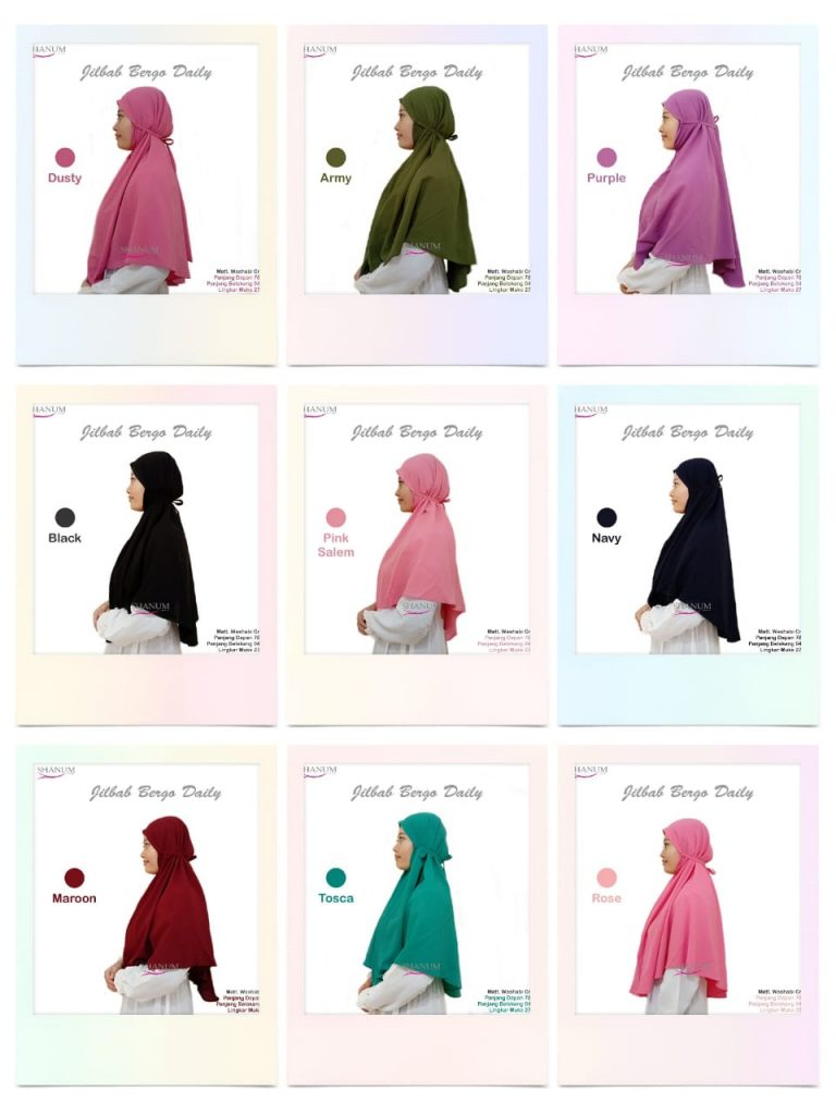 supplier jilbab bergo daily